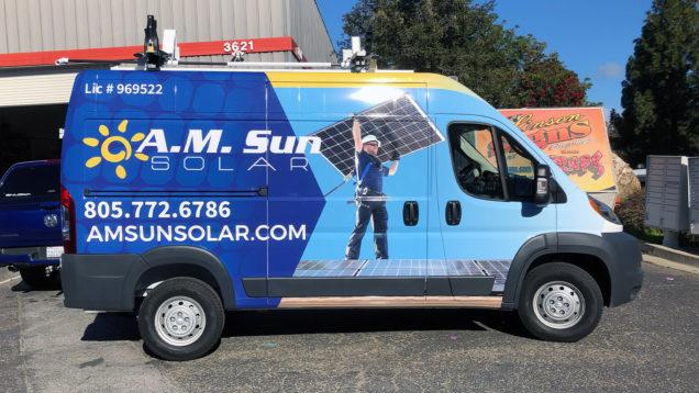 AM Sun Solar Vehicle Wraps