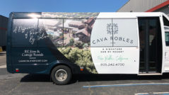 Cava Robles Partial Bus Wrap