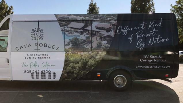 Cava Robles Partial Bus Wrap