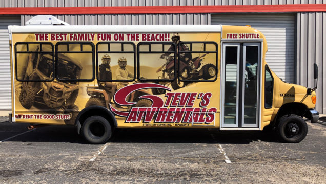 Vinyl Bus Wrap for Steve's ATV