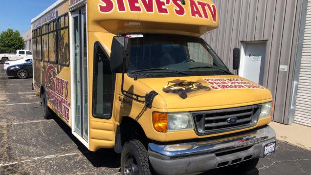 Vinyl Bus Wrap for Steve's ATV
