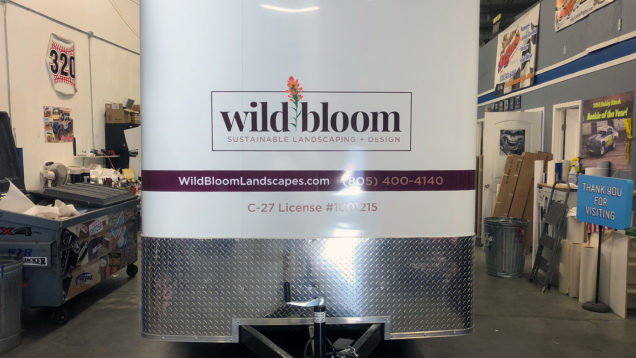 Wild Bloom Vinyl Lettering