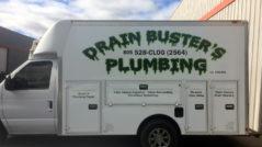 Drain Busters Van Lettering