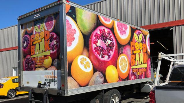 Food Bank Truck Wrap