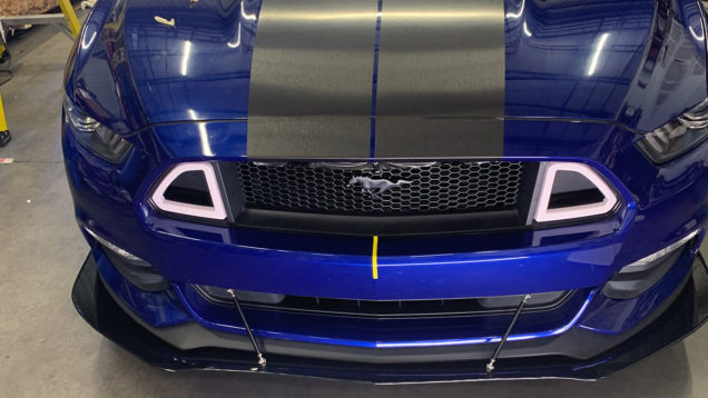 Custom Mustang Rally Stripes