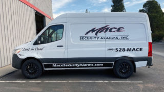 Mace Security Van Lettering