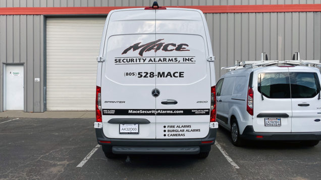 Mace Security Van Lettering